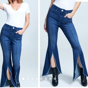 Seven7 Jeans High Rose Flare With Slits